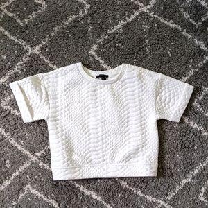 ⚡3/$20⚡Cropped short sleeve sweatshirt sz:S